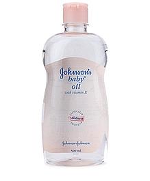 Johnsons baby oil 500ml 1 VizagShop.com
