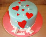 Venella valentine cake VizagShop.com