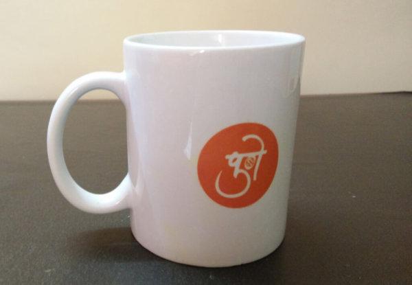 White print mug VizagShop.com
