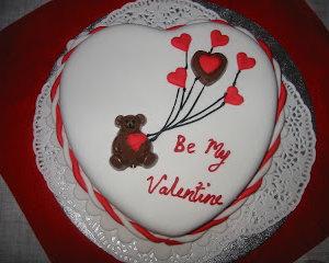 butterscotch valentine cake VizagShop.com