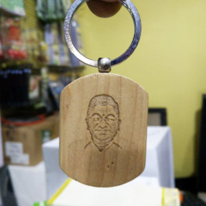 wood carved custom key chain VizagShop.com