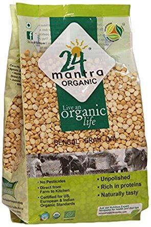 24 Mantra Organic Bengalgram Chana Dal 1Kg VizagShop.com