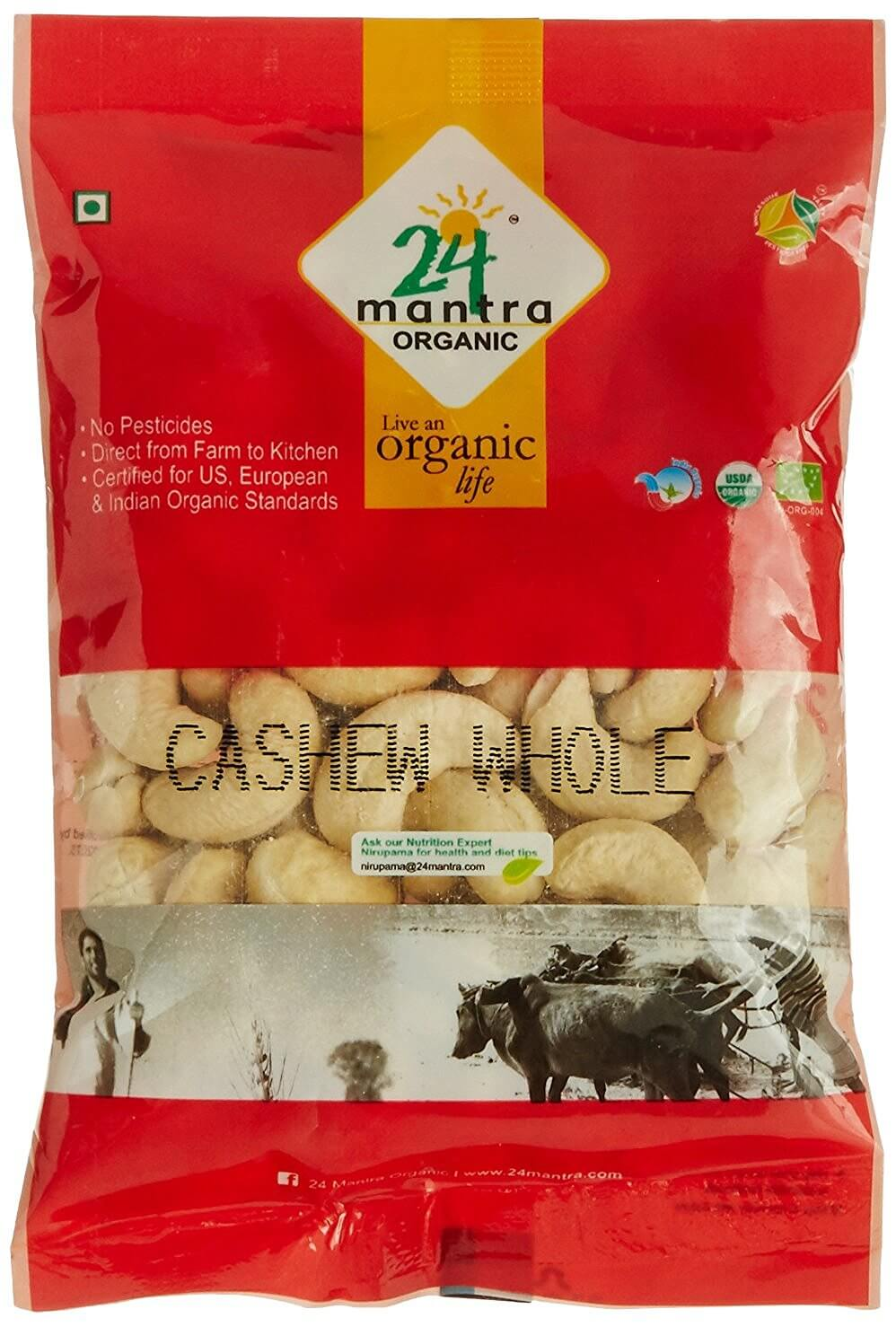 24 Mantra Organic Cashew Whole 100g VizagShop.com