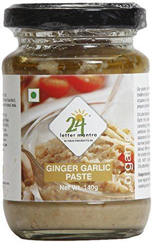 24 Mantra Organic Ginger Garlic Paste 140g VizagShop.com