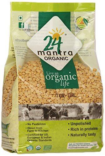 24 Mantra Organic Tur Dal 1kg VizagShop.com
