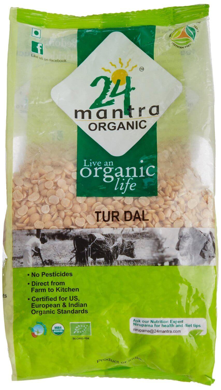 24 Mantra Organic Tur Dal 500g VizagShop.com