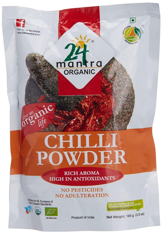 24 Mantra Organic Chilli Powder 100g VizagShop.com