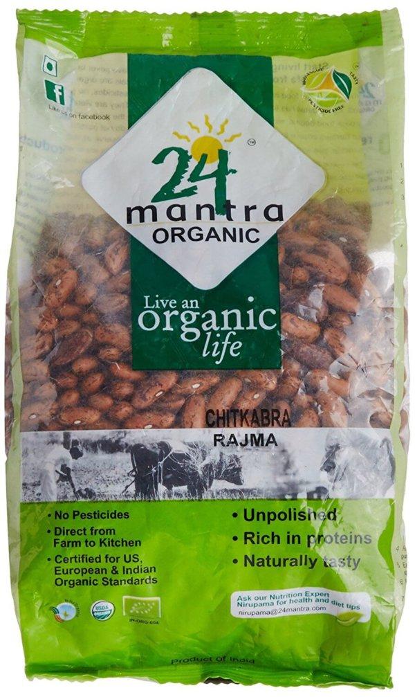 24 Mantra Organic Chitkabra Rajma Himalayan 500g VizagShop.com