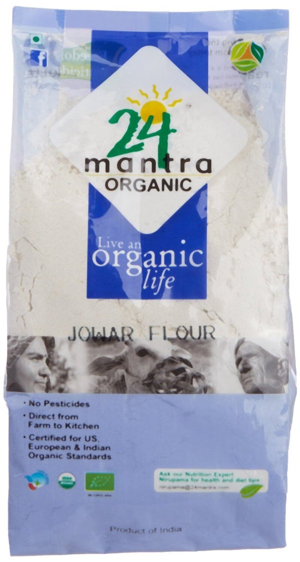 24 Mantra Organic Jowar Sorghum Flour 500g VizagShop.com