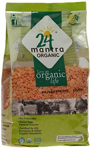 24 Mantra Organic Masoor Dal 500g VizagShop.com
