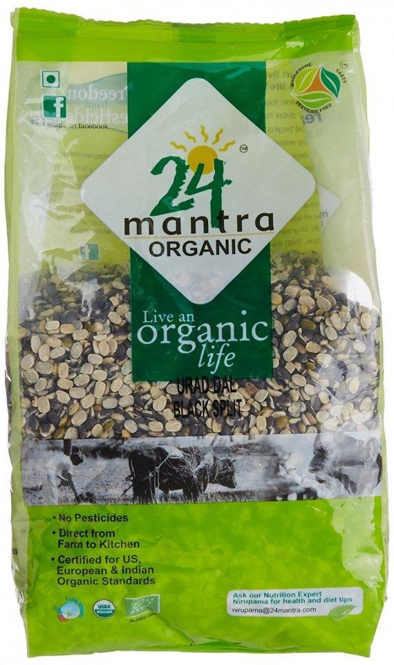 24 Mantra Organic Urad Dal Black Split 500g VizagShop.com