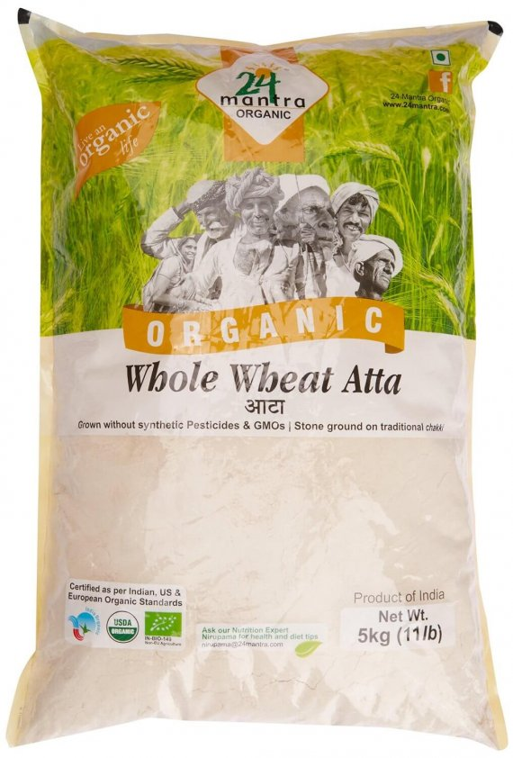 24 Mantra Organic Wholewheat Atta Premium 5kg VizagShop.com