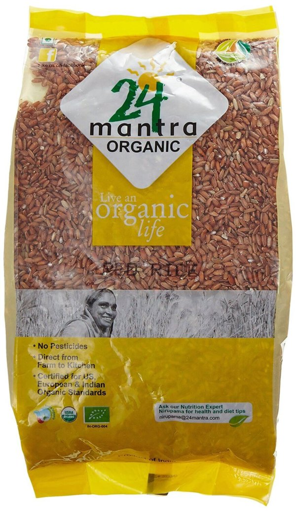 24 Organic Mantra Products Red Rice 1Kg VizagShop.com