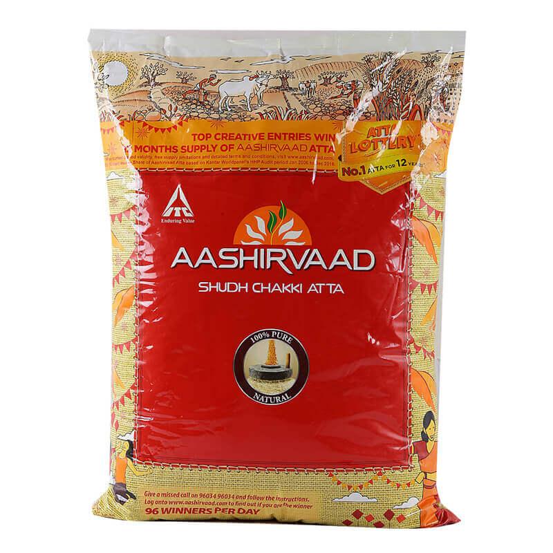 Aashirvaad Chakki Atta 10 kg VizagShop.com