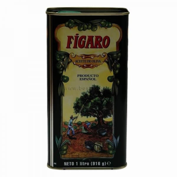 Figaro Pure Olive Oil Tin 1 L VizagShop.com