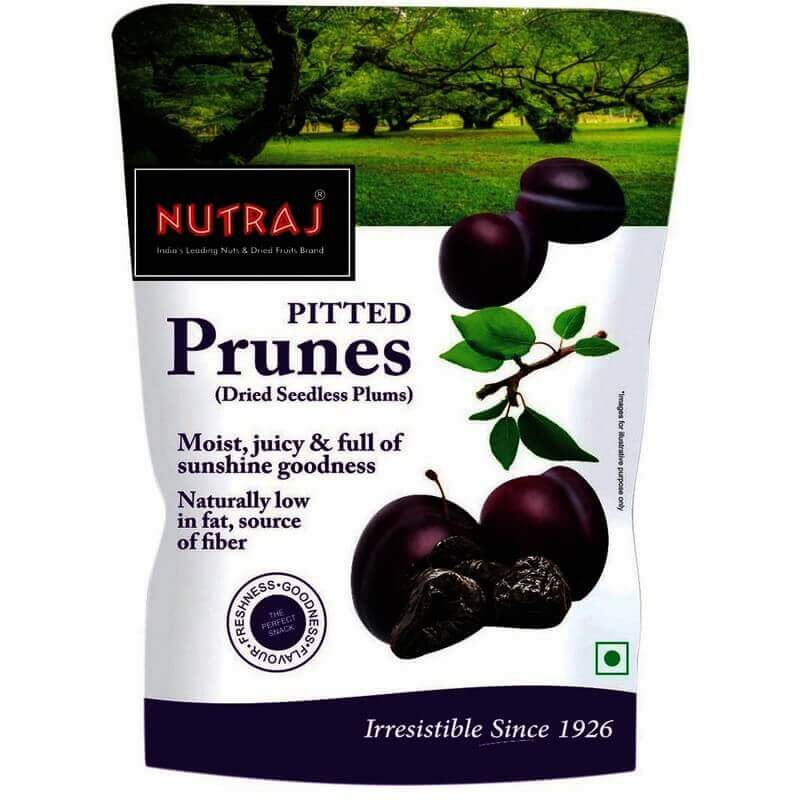 Nutraj Pitted Prunes Pouch 200 g VizagShop.com