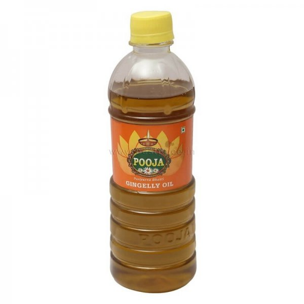 Pooja Gingelly Oil Bottle 500 ml VizagShop.com