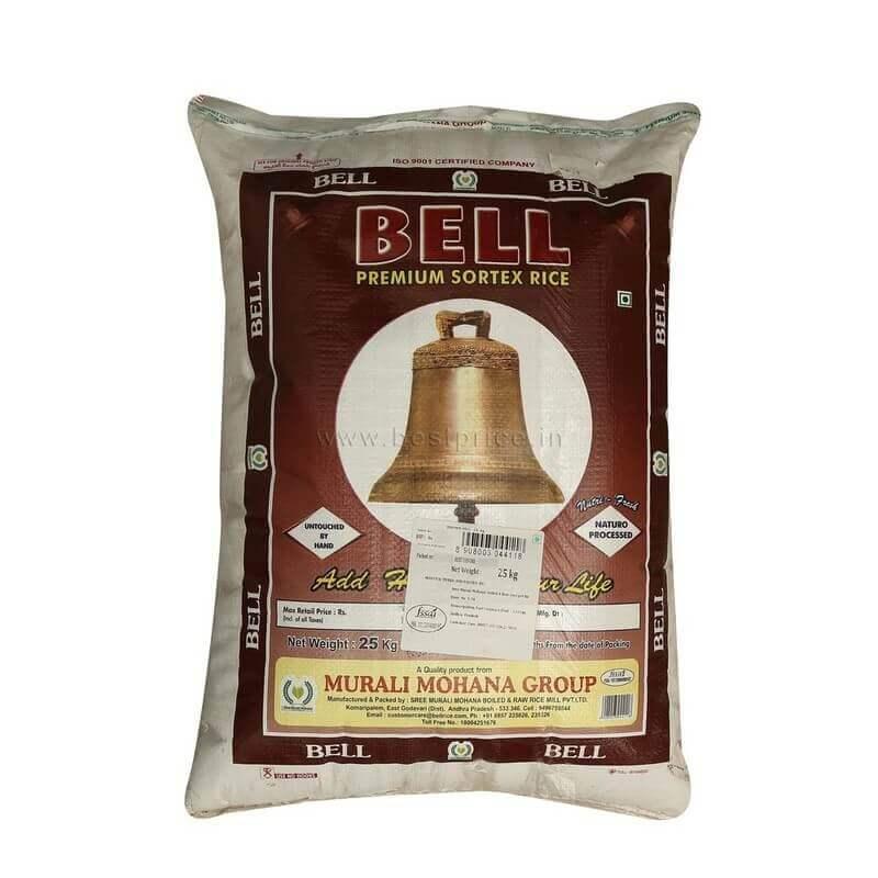 bell brown sona masuri rice 25kg VizagShop.com