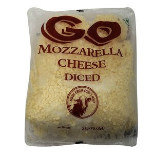 go mozerella cheese diced 2kg VizagShop.com