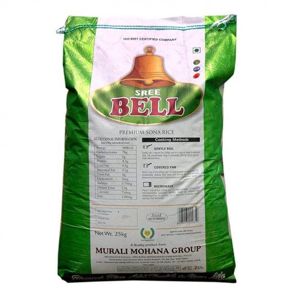 Order Bell Green Sona Masuri 25 kgs Rice bag online in Visakhapatnam